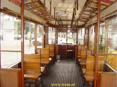 Triebwagen Type A Nr. 1 Innenraum