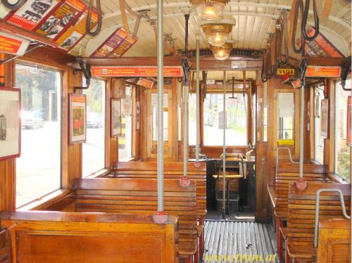 Triebwagen Type M Nr. 4148 Innenraum