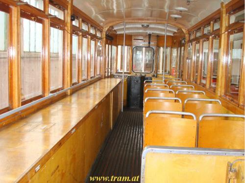 Triebwagen Type GS Nr. 6857 Innenraum