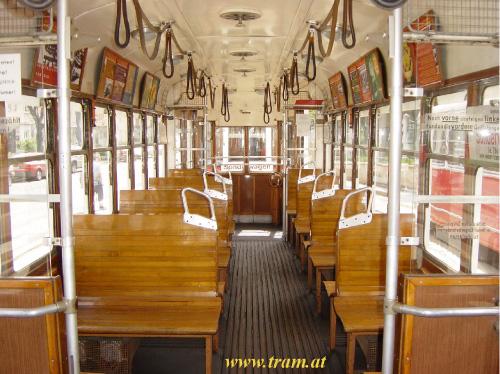 Beiwagen Type k6 Nr. 1530 Innenraum