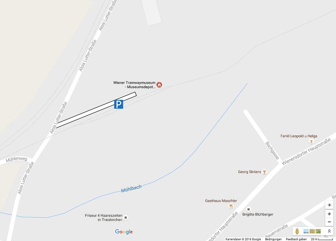 WTM Museumsdepot Zufahrt & Parkmöglichkeit