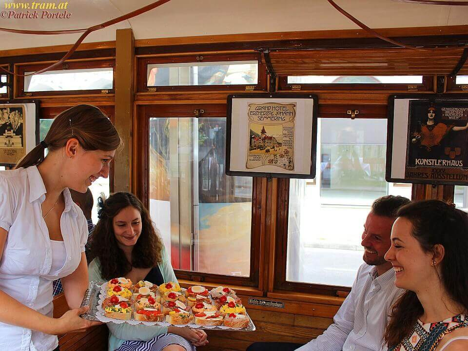 Catering in der Tramway