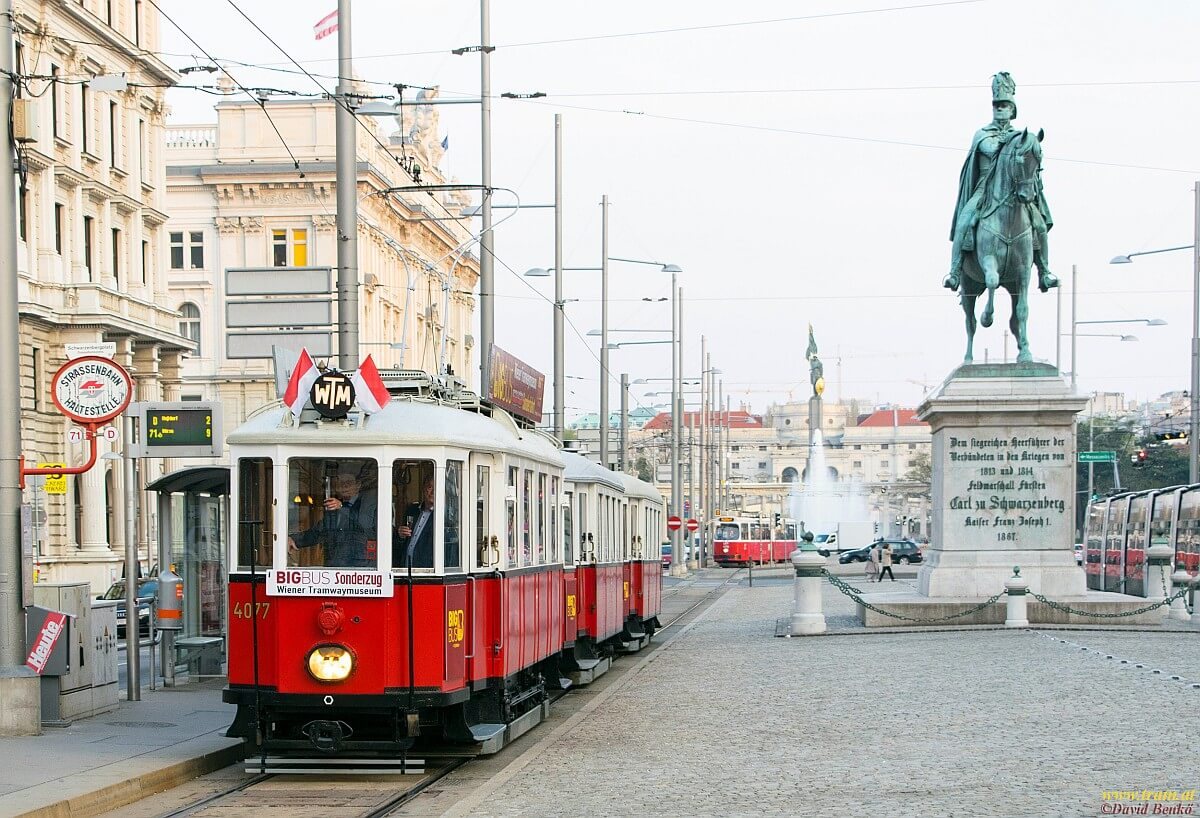 Sightseeing Tram Tour at Schwarzenbergplatz