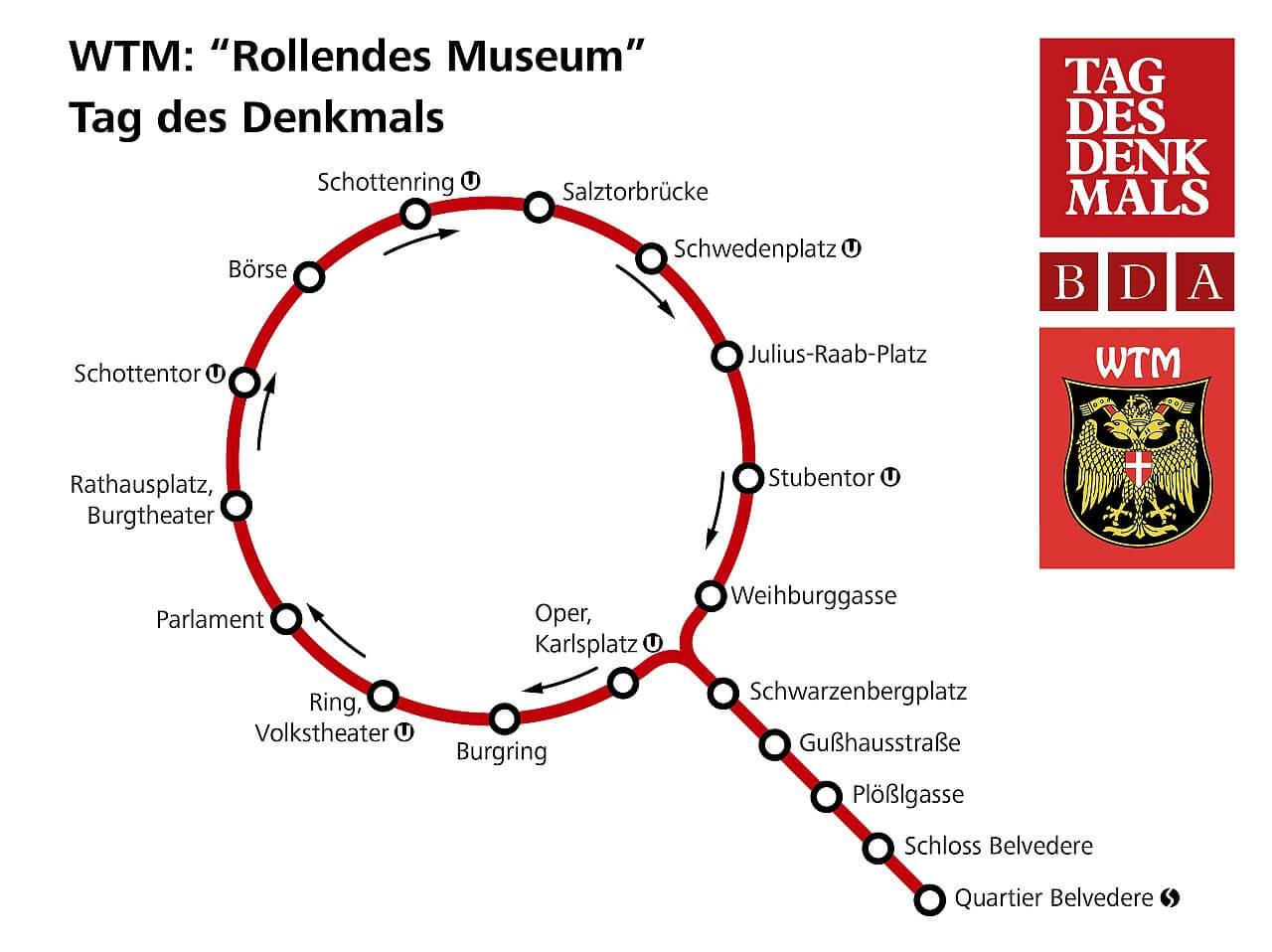 Route am Tag des Denkmals